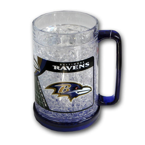 16Oz Crystal Freezer Mug NFL - Baltimore Ravens - Peazz.com