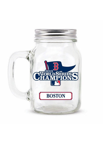 2013 World Series Champ Mason Jar - Boston Red Sox - Peazz.com