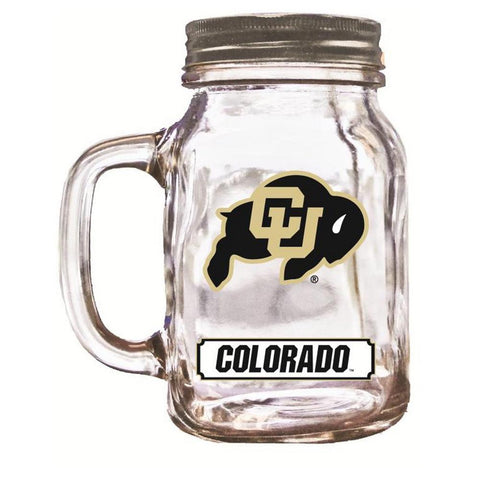 16Oz Mason Jar Colorado Buffalos - Peazz.com