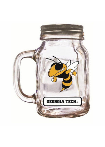 16Oz Mason Jar Georgia Tech - Peazz.com