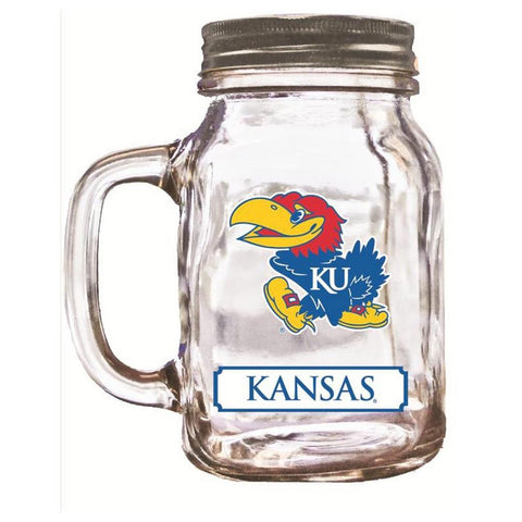 16Oz Mason Jar Kansas Jayhawks - Peazz.com