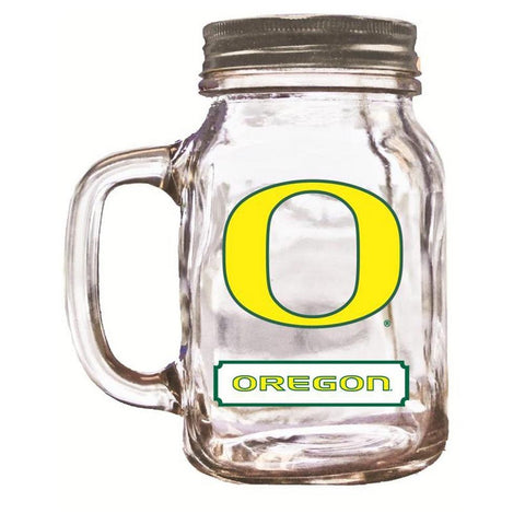 16Oz Mason Jar Oregon Ducks - Peazz.com