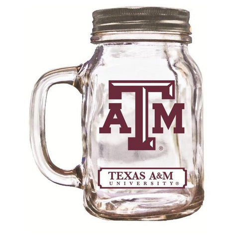 16Oz Mason Jar - Texas A&M - Peazz.com