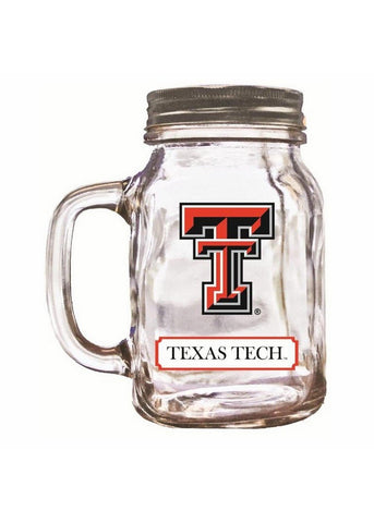 16Oz Mason Jar Texas Tech - Peazz.com