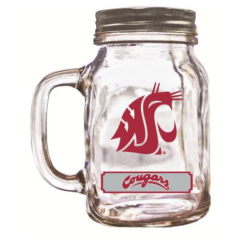 16Oz Mason Jar Washington State Cougars - Peazz.com