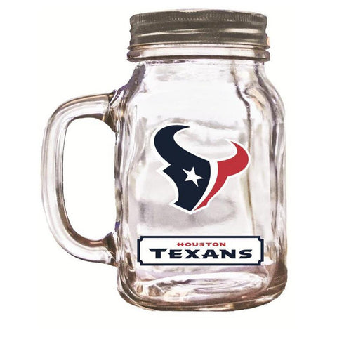 16 Oz Mason Jar Houston Texans - Peazz.com