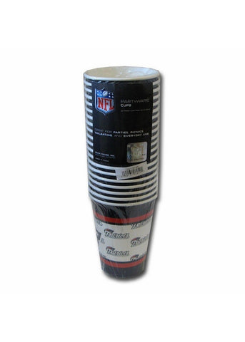 New England Patriots Disposable Paper Cups - 20 Pack - Peazz.com
