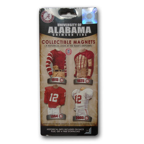 4 Pack Uniform Magnet Set - Ncaa - University of Alabama - Peazz.com