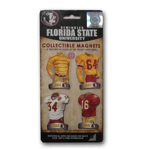 4 Pack Uniform Magnet Set - Ncaa - Florida State University - Peazz.com