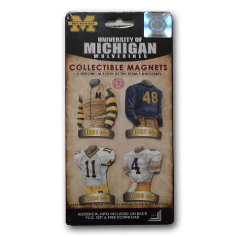 4 Pack Uniform Magnet Set - Ncaa - University of Michigan - Peazz.com