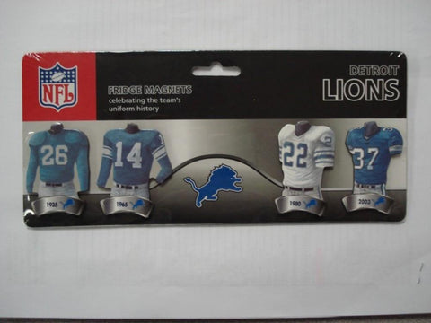 4 Pack Uniform Magnet Set - NFL - Detroit Lions - Peazz.com