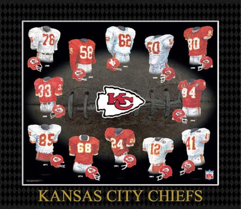 Evolution of The Team Uniform Framed Photograph - NFL - Kansas City Chiefs - Peazz.com