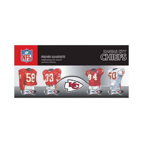 4 Pack Uniform Magnet Set - NFL - Kansas City Chiefs - Peazz.com