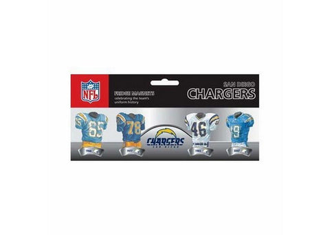 4 Pack Uniform Magnet Set - NFL - San Diego Chargers - Peazz.com