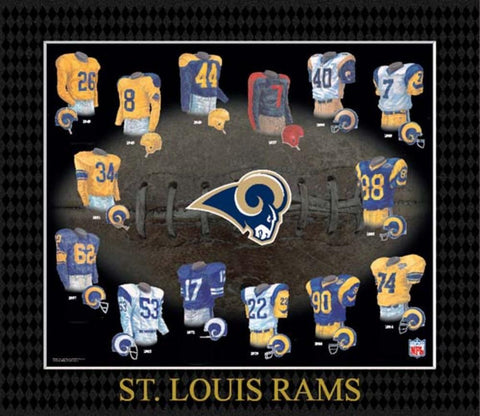 Evolution of The Team Uniform Framed Photograph - NFL - Saint Louis Rams - Peazz.com