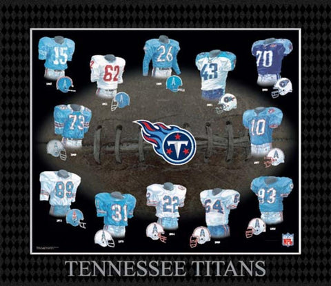 Evolution of The Team Uniform Framed Photograph - NFL - Tennessee Titans - Peazz.com