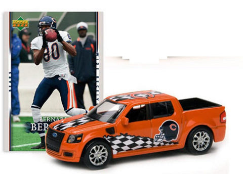 NFL Ford Svt Adrenalin Concept Diecast - Bears With Bernard Berrian Card - Peazz.com