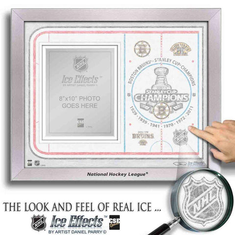 NHL Ice Effects Frames - 2011 Stanley Cup Champions Boston Bruins - Peazz.com