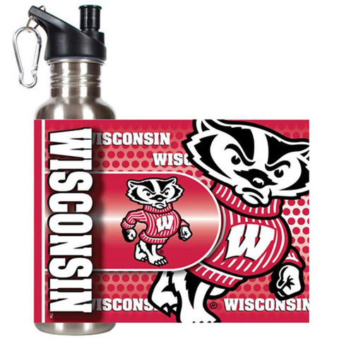 Stainless Steel Water Bottle - University of Wisconsin - Peazz.com