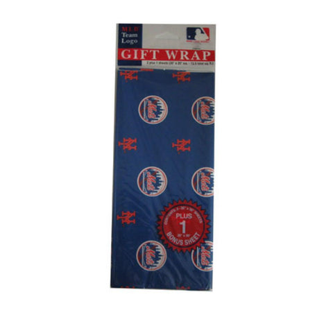2-Packages of MLB Gift Wrap - Mets - Peazz.com