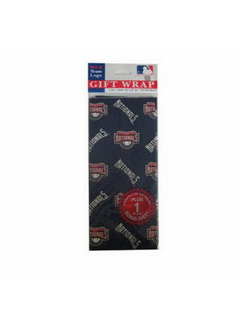 2-Packages of MLB Gift Wrap - Nationals - Peazz.com
