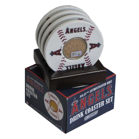 2010 Game Used Dirt In Los Angeles Angels Logo Set of 4 Coasters (MLB Authenticated) - Peazz.com