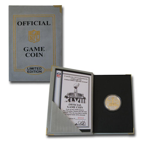 Super Bowl 48 Official Two-Tone Flip Coin - Peazz.com