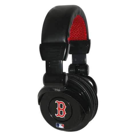 Ihip MLB Pro Dj Headphones With Microphone - Boston Red Sox - Peazz.com