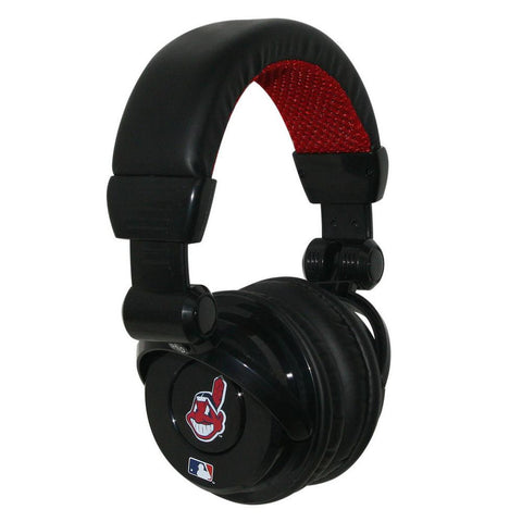 Ihip MLB Pro Dj Headphones With Microphone - Cleveland Indians - Peazz.com