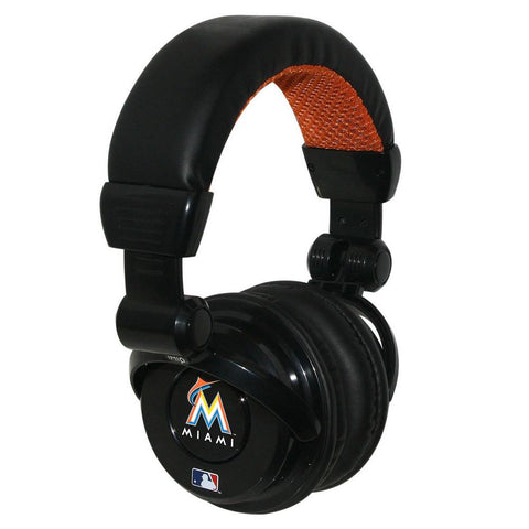 Ihip MLB Pro Dj Headphones With Microphone - Miami Marlins - Peazz.com