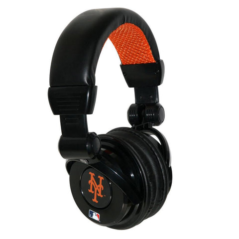 Ihip MLB Pro Dj Headphones With Microphone - New York Mets - Peazz.com