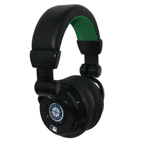 Ihip MLB Pro Dj Headphones With Microphone - Seattle Mariners - Peazz.com