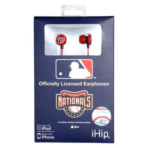 Ihip Logo Earbuds - Washington Nationals - Peazz.com
