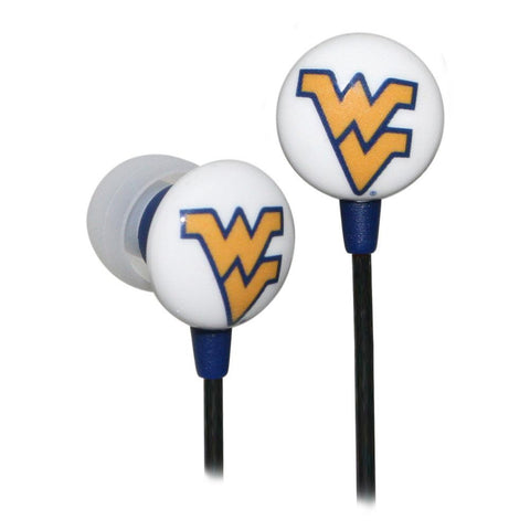 Logo Earbuds - West Virginia Mountaineers - Peazz.com