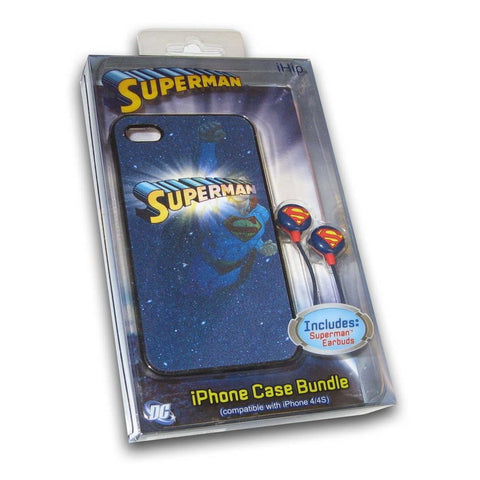 Ihip Iphone/Earbud Bundle - Superman - Peazz.com