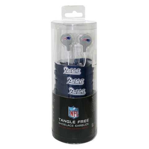Shoelace Earbuds - New England Patriots - Peazz.com