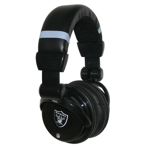 Ihip Pro Dj Headphones With Microphone - Oakland Raiders - Peazz.com