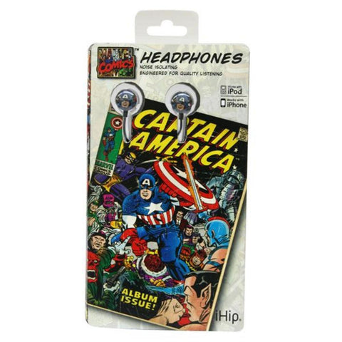 Marvel Retro Earphones - Captain America - Peazz.com