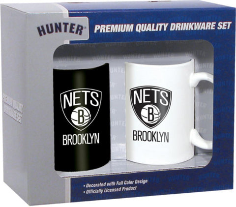 Hunter 2 Pack Coffee Mug - Brooklyn Nets - Peazz.com