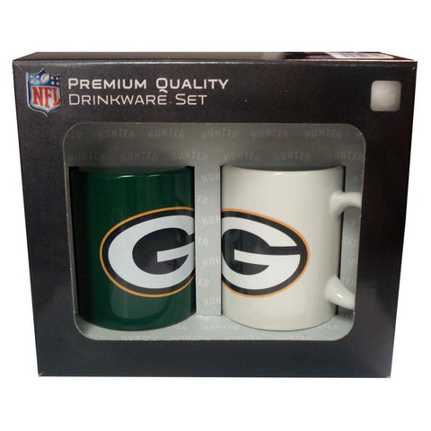 Hunter 2 Pack Coffee Mugs - Green Bay Packers - Peazz.com