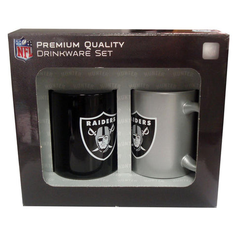 Hunter 2 Pack Coffee Mugs - Oakland Raiders - Peazz.com