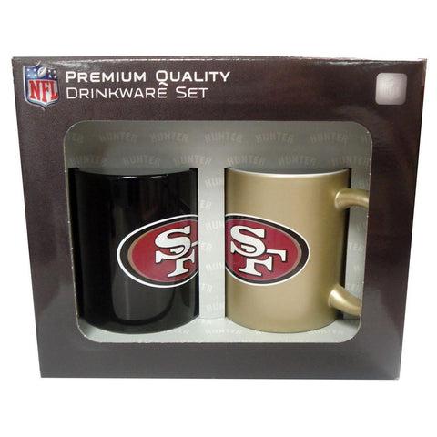 Hunter 2 Pack Coffee Mugs - San Francisco 49ers - Peazz.com