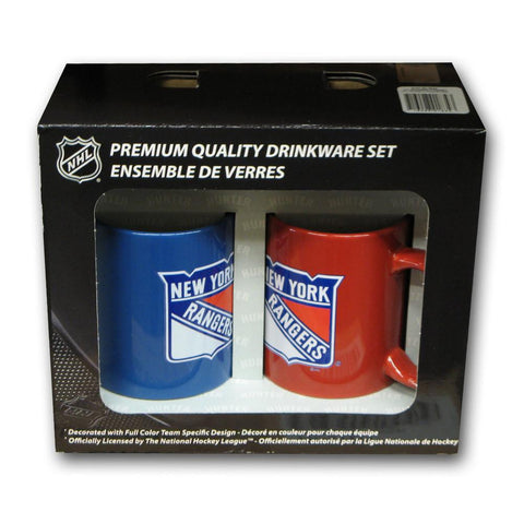 Hunter 2 Pack Coffee Mug - New York Rangers - Peazz.com