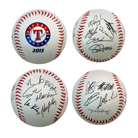 2013 Team Roster Signature Ball - Texas Rangers - Peazz.com