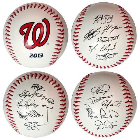 2013 Team Roster Signature Ball - Washington Nationals - Peazz.com