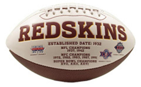 Signature Series Team Full Size Footballs - Washington Redskins - Peazz.com