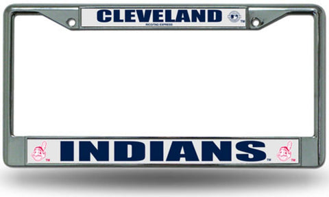Chrome License Plate Frame - Cleveland Indians - Peazz.com