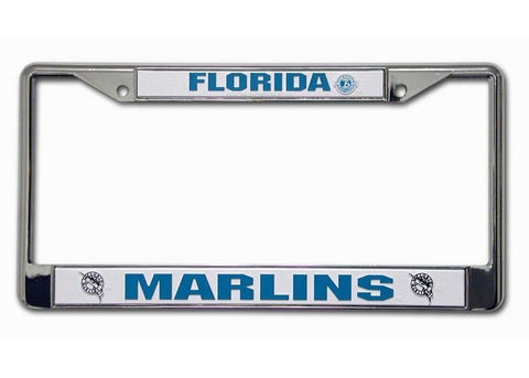 Chrome License Plate Frame - Florida Marlins - Peazz.com