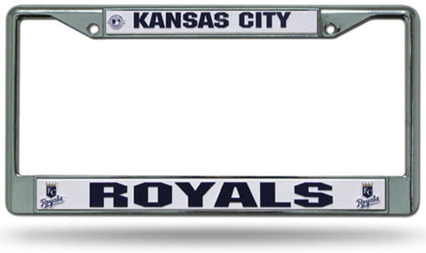Chrome License Plate Frame - Kansas City Royals - Peazz.com