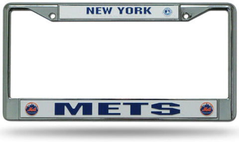 Chrome License Plate Frame - New York Mets - Peazz.com